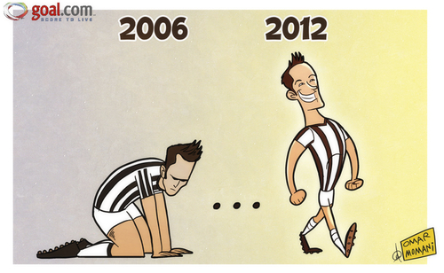 Cartoon: Juventus emerge from dark days (medium) by omomani tagged del,piero,juventus,serie