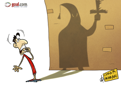 Cartoon: Suarez KKK (medium) by omomani tagged suarez,league,premier,liverpool,kkk,england,uruguay