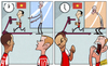 Cartoon: Arsenal stars left flagging (small) by omomani tagged arsenal,jack,wilshere,theo,walcott,vietnam,vu,xuan,tien,wenger