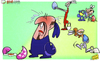 Cartoon: Benitez crack in top four hunt (small) by omomani tagged arsenal,champions,league,chelsea,easter,manchester,city,mancini,premier,rafael,benitez,tottenham,villas,boas,wenger