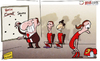 Cartoon: Carroll forced out by Borini (small) by omomani tagged andy,carroll,brendan,rodgers,fabio,borini,liverpool,suarez