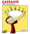 Cartoon: Cassano made it all in 5 minutes (small) by omomani tagged cassano,milan,inter,seire,italy