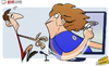 Cartoon: David Luiz shows Gary Neville (small) by omomani tagged chelsea,david,luiz,gary,neville,playstation