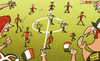 Cartoon: Fans fly the Irish flag (small) by omomani tagged alvaro,arbeloa,david,silva,euro,2012,iniesta,ireland,ramos,spain,torres,xabi,alonso,xavi