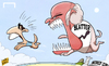 Cartoon: Fifa bites back in Suarez saga (small) by omomani tagged blatter,fifa,suarez,uruguay,world,cup,2014