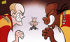 Cartoon: Galatasaray are coming (small) by omomani tagged drogba,galatasaray,sk,sneijder