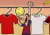 Cartoon: Happy 2012 (small) by omomani tagged messi,barcelona,real,madrid,ac,milan,manchester,united