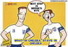 Cartoon: Lampard and Terry (small) by omomani tagged bridge,chelsea,england,lampard,manchester,city,premier,league,terry