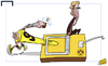 Cartoon: Lewandowski trapped (small) by omomani tagged dortmund,jurgen,klopp,mousetrap,robert,lewandowski