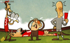 Cartoon: Liverpool trip up (small) by omomani tagged andy,carroll,dalglish,england,jose,enrique,liverpool,premier,league,reina