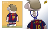 Cartoon: Messi in disguise Hazard (small) by omomani tagged hazard,messi