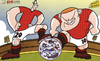 Cartoon: Rooney and Van Persie (small) by omomani tagged arsenal,brendan,rodgers,chelsea,david,luiz,liverpool,manchester,city,united,mancini,premier,league,reina,rooney,van,persie,wenger