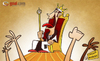 Cartoon: the King of Turin (small) by omomani tagged del,piero,italy,juventus,serie