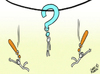 Cartoon: The Questioner (small) by omomani tagged omar,momani