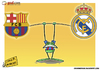 Cartoon: The steadfastness of Levante (small) by omomani tagged barcelona,frog,la,liga,levante,real,madrid,spain