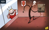 Cartoon: Wenger left with Rooney dilemma (small) by omomani tagged arsenal,manchester,united,rooney,wenger