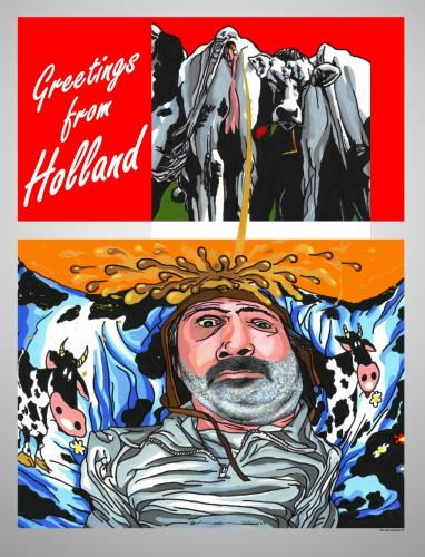 Cartoon: Greetings from Holland (medium) by willemrasingart tagged holland,