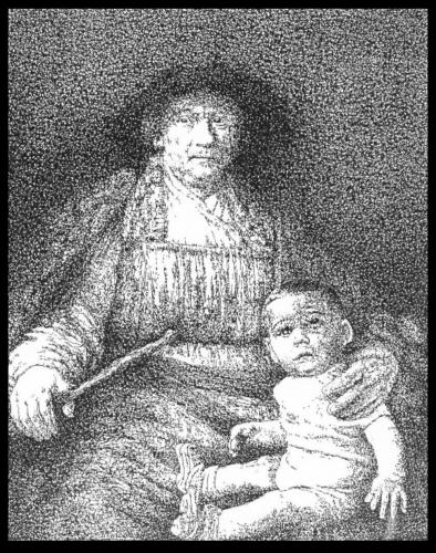 Cartoon: Rembrandt and me portrait (medium) by willemrasingart tagged rembrandt,