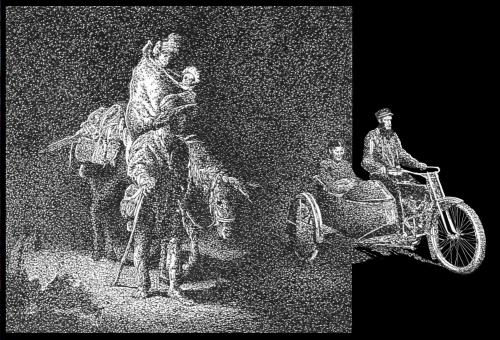Cartoon: Riding for Egypt (medium) by willemrasingart tagged rembrandt,