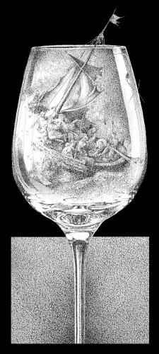 Cartoon: Storm in a glas of water (medium) by willemrasingart tagged rembrandt,