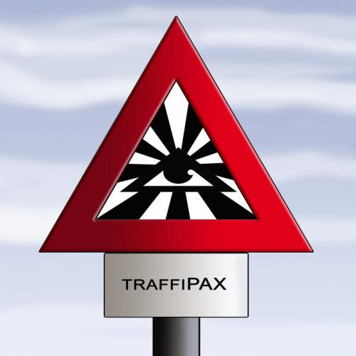 Cartoon: traffipax (medium) by andart tagged traffipax,religion,good,transcendent,traffic,transport,