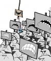 Cartoon: untitled (small) by andart tagged demonstration,mass,andart