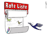 Cartoon: Lufthansa Rote Liste (small) by Pfohlmann tagged 2020,corona,coronakrise,lufthansa,flugverkehr,rote,liste,aussterben,artensterben,vogel,kranich,vögel