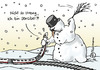 Cartoon: Strenger Winter (small) by Pfohlmann tagged db,deutsche,bahn,verkehr,zug,ice,winter,streng,chaos,schnee,schneemann,wetter