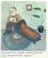 Cartoon: psychiater therapie (small) by sabine voigt tagged psychiater,therapie,arzt,wolf,freud