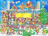 Cartoon: Wimmelbild Fussball Weihnacht (small) by sabine voigt tagged wimmelbild,fussball,weihnacht,schnee,weihnachtsmann,winter,schlitten,geschenke,sport,stadion,weihnachten