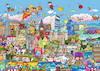 Cartoon: Wimmelbild London (small) by sabine voigt tagged wimmelbild,london,tower,queen,themse,england,brexit,europa,great,britain,westminster