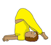 Cartoon: yoga asana (small) by sabine voigt tagged yoga,asana,sport,übung,turnen,hobby,meditation,entspannung,prävention,bewegung,gesundheit,wellness,therapie,fitness