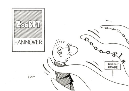 Cartoon: CeBIT (medium) by Erl tagged cebit,hannover,google,facebook,daten,krake,bock,technik,fortschritt,technologie,zoo
