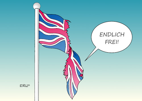 Cartoon: Endlich frei! (medium) by Erl tagged politik,brexit,done,austritt,großbritannien,gb,uk,eu,premierminister,boris,johnson,brexiteers,lügen,zukunft,freiheit,scherbenhaufen,spaltung,zerrissenheit,flagge,karikatur,erl,politik,brexit,done,austritt,großbritannien,gb,uk,eu,premierminister,boris,johnson,brexiteers,lügen,zukunft,freiheit,scherbenhaufen,spaltung,zerrissenheit,flagge,karikatur,erl