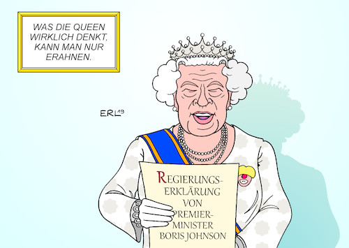 Cartoon: Queen (medium) by Erl tagged politik,brexit,großbritannien,parlament,eröffnung,queen,elizabeth,ii,verlesung,regierungserklärung,premierminister,boris,johnson,rechtspopulismus,skrupellosigkeit,chaos,clown,karikatur,erl,politik,brexit,großbritannien,parlament,eröffnung,queen,elizabeth,ii,verlesung,regierungserklärung,premierminister,boris,johnson,rechtspopulismus,skrupellosigkeit,chaos,clown,karikatur,erl