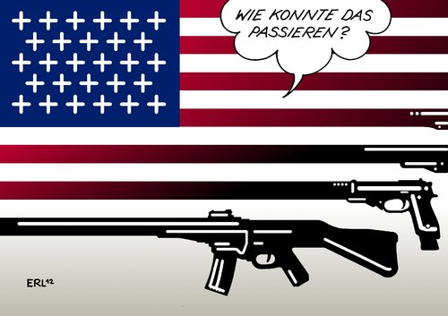 Cartoon: USA II (medium) by Erl tagged waffenlobby,waffengesetz,waffen,grundschule,amoklauf,usa,usa,amoklauf,grundschule,waffen,waffengesetz,waffenlobby