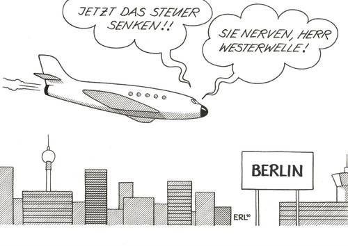 Cartoon: Westerwelle (medium) by Erl tagged guido westerwelle,steuersenkung,steuern,steuer,geld,finanzen,guido,westerwelle