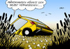 Cartoon: ADAC-Sumpf (small) by Erl tagged adac,manipulation,ungereimtheit,zahlen,auto,automobilclub,panne,pannenhilfe,pannenservice,abschleppdienst,münchhausen,lügenbaron,herausziehen,zopf,schopf,schilf