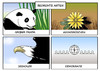 Cartoon: Bedrohte Arten (small) by Erl tagged tier,art,bedroht,panda,adonisröschen,seeadler,demokratie,karikatur,erl