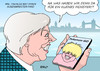 Cartoon: Boris Johnson II (small) by Erl tagged großbritannien,brexit,premierministerin,theresa,may,kabinett,außenminister,boris,johnson,überraschung,london,pokemon,go,handy,spiel,app,suche,figuren,monster,virtual,reality,karikatur,erl