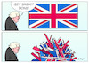 Cartoon: Brexit done (small) by Erl tagged politik,brexit,done,austritt,großbritannien,gb,uk,eu,premierminister,boris,johnson,brexiteers,lügen,zukunft,freiheit,scherbenhaufen,spaltung,zerrissenheit,flagge,karikatur,erl