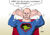 Cartoon: Donezk (small) by Erl tagged ukraine,krim,russland,annexion,ostukraine,donezk,unruhen,hilferuf,putin,eingreifen,ruhe,ordnung,superman