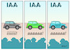 Cartoon: IAA (small) by Erl tagged politik,auto,automobilbau,automobil,messe,frankfurt,iaa,diesel,skandal,krise,alternative,antriebe,elektroauto,elektromobilität,wasserstoff,mobilität,zukunft,klima,co2,klimaschutz,klimawandel,karikatur,erl