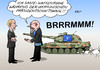 Cartoon: OSZE bei Putin (small) by Erl tagged ukraine,konflikt,bürgerkrieg,russland,usa,eu,osze,waffenruhe,präsidentschaftswahl,nato,stationierung,truppen,osteuropa,panzer,lärm,verständigung