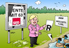 Cartoon: Rente mit 63 (small) by Erl tagged rente,große,koalition,cdu,csu,spd,63,kritik,julia,klöckner,wirtschaft,wirtschaftsflügel,ente,enten,füttern,zerreißen