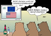 Cartoon: Sanktionen I (small) by Erl tagged ukraine,krim,russland,referendum,völkerrecht,usa,eu,sanktionen,daumenschrauben,bär,bären,bar,daumen