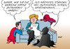 Cartoon: Superhelden unter sich (small) by Erl tagged angela,merkel,diplomatie,ukraine,krise,krieg,ostukraine,entschärfen,heldin,superheld,superman,batman,spiderman,agenda,islamismus,syrien,griechenland,schulden,euro,banken,finanzen