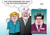 Cartoon: Unions-Strategie (small) by Erl tagged flüchtlinge,deutschland,streit,seehofer,merkel,gipfel,regierung,koalition,cdu,csu,spd,sündenbock,gabriel,veilchen,blaues,auge,gipsarm,strategie,papier,karikatur,erl