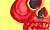 Cartoon: Calavera my Love (small) by robobenito tagged calavera,skull,red,yellow,eyes,teeth,black,death,muerte,sleep,color,colors