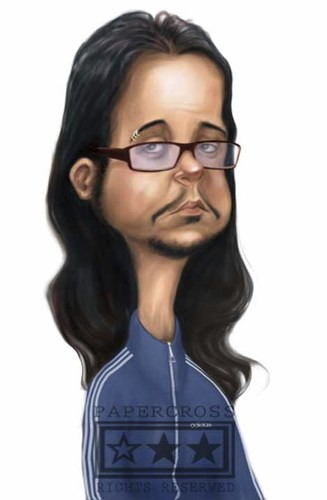 Cartoon: Jonathan Davis of  KoRn (medium) by billfy tagged music,metal,rock,vocal,korn